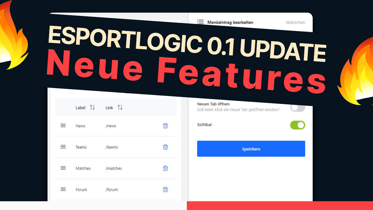 ESPORTLOGIC CMS Update - Erfahre mehr über die neuen Features